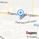 Реагент на карте Барнаула