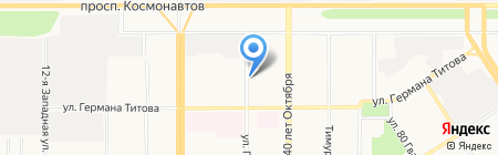 Дэу на карте Барнаула