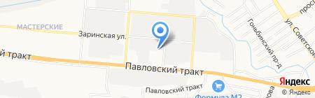 Драйв+ на карте Барнаула