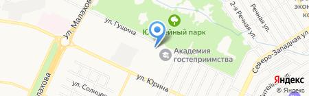 Краевой психоневрологический детский санаторий на карте Барнаула