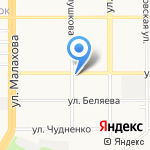 Лохматая ворона на карте Барнаула