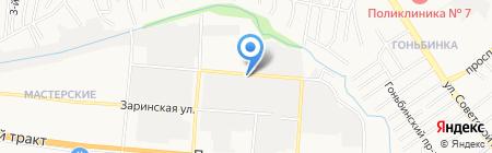 Алтай-Сток на карте Барнаула