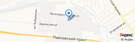 Автоопера на карте Барнаула