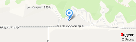 Милон на карте Барнаула