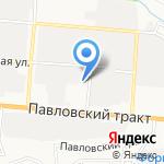 Формула22 на карте Барнаула