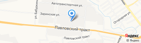 Автомагазин запчастей для ВАЗ на карте Барнаула