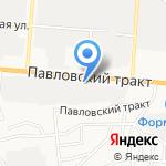 Грузовичок на карте Барнаула
