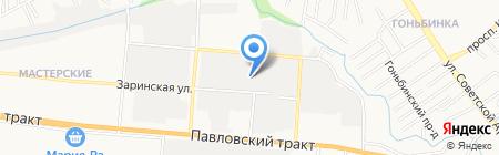 Тануки на карте Барнаула