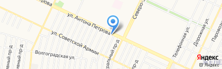 Цветочный рай на карте Барнаула