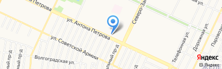 17 соток на карте Барнаула