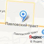 Киоск по продаже фастфудной продукции на карте Барнаула