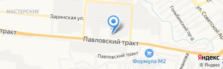 Японец на карте Барнаула
