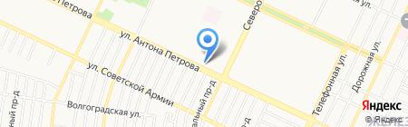 Демио на карте Барнаула