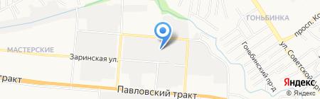 Меломарк на карте Барнаула