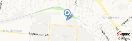 Мастерская на Автотранспортной на карте Барнаула