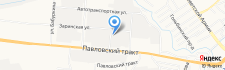 Канар на карте Барнаула