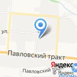 Крепкий орешек на карте Барнаула