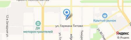 Трактир у Николаича на карте Барнаула