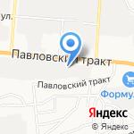 ТДК на карте Барнаула