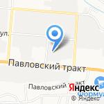 Автомобильный на карте Барнаула