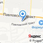 Деникс на карте Барнаула