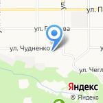 Ястреб на карте Барнаула