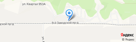 Гидросила М на карте Барнаула