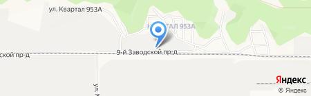 Круглов на карте Барнаула