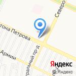 Курсор на карте Барнаула