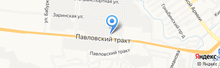 Avtocar на карте Барнаула
