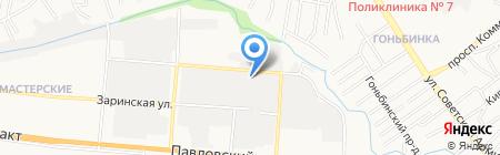 Альпас на карте Барнаула