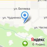 Детский сад №106 на карте Барнаула