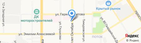 Золотой локон на карте Барнаула