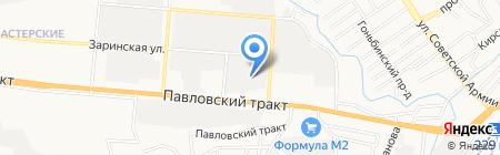 Алтайводопровод на карте Барнаула