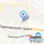 Коллаж плюс на карте Барнаула