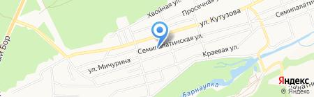 Зелененький на карте Барнаула