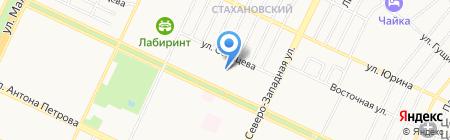 Гимназия №80 на карте Барнаула