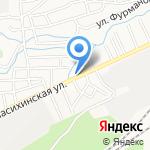 Фиалка на карте Барнаула