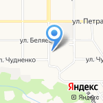 Колобок на карте Барнаула