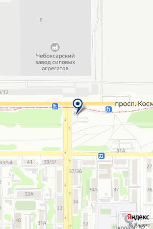 Шиномонтажная мастерская на проспекте Космонавтов на карте Барнаула