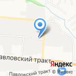 Турист Алтая на карте Барнаула