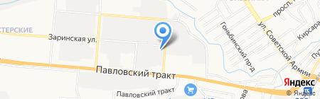 Аббат на карте Барнаула