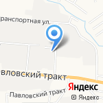 Барнаульский шпалопропиточный завод на карте Барнаула