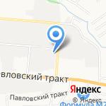Р-видео на карте Барнаула
