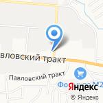 Адель на карте Барнаула
