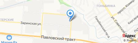 Электросила на карте Барнаула