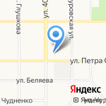Детский сад №87 на карте Барнаула