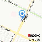 Петровское на карте Барнаула
