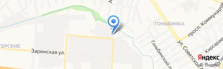Бумер на карте Барнаула