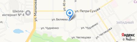 Детский сад №225 на карте Барнаула